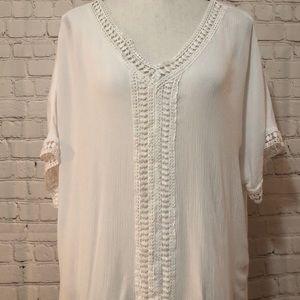 Cato white shirt sleeve top